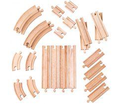 Dřevěné koleje set 24 dílů Bigjigs Rail