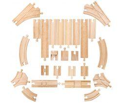 Dřevěné koleje set 25 dílů Bigjigs Rail
