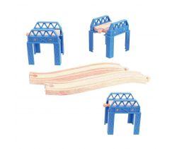 Dřevěné koleje set mostní konstrukce Bigjigs Rail