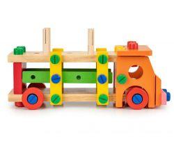 Dřevěné konstrukční kostky EcoToys Van