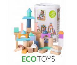 Dřevěné kostky 100 ks EcoToys