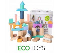 Dřevěné kostky 50 ks EcoToys