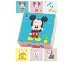 Dřevěné obrázkové kostky Derrson Disney