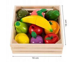 Dřevěné ovoce v bedýnce EcoToys