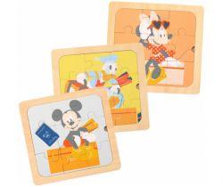 Dřevěné puzzle 3v1 Derrson Disney