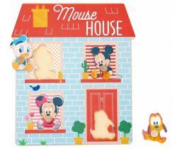 Dřevěné puzzle Derrson Disney Domeček pro nejmenší