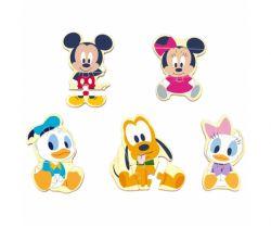 Dřevěné puzzle Derrson Disney Mickey a přátelé