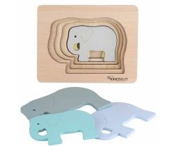 Dřevěné puzzle Kindsgut Slon