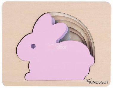 Dřevěné puzzle Kindsgut Zajíc