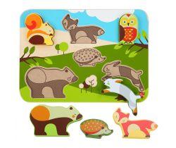 Dřevěné puzzle Lucy&Leo Forest Animals