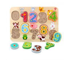 Dřevěné puzzle Lucy&Leo Numbers
