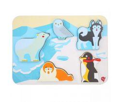 Dřevěné puzzle Lucy&Leo Polar Animals