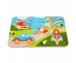 Dřevěné puzzle Lucy&Leo Vehicles