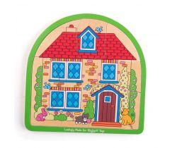 Dřevěné vícevrstvé puzzle Bigjigs Toys Dům