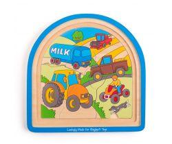 Dřevěné vícevrstvé puzzle Bigjigs Toys Farma