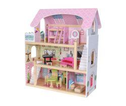 Dřevěný domeček pro panenky EcoToys Pohádková Rezidence