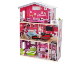 Dřevěný domeček pro panenky EcoToys Rezidence Malibu