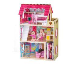 Dřevěný domeček pro panenky s výtahem EcoToys Raspberry