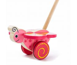 Dřevěný jezdík Bigjigs Baby Motýlek