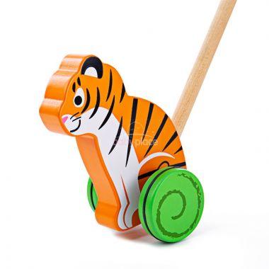 Dřevěný jezdík Bigjigs Baby Tygr