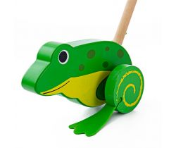 Dřevěný jezdík Bigjigs Baby Žabička