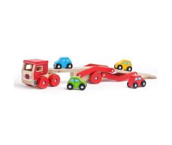 Dřevěný kamion s auty Bigjigs Toys