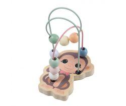 Dřevěný mini labyrint 12m+ Jouéco the Wildies Family Monkey
