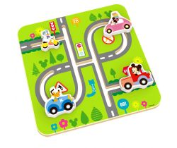 Dřevěný motorický labyrint Derrson Disney Mickeyho svět