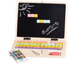 Dřevěný notebook s magnetickým monitorem EcoToys