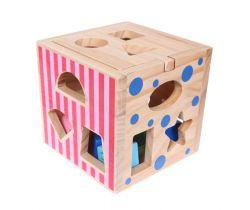 Dřevěný třídič s kostkami EcoToys
