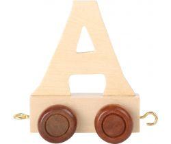 Dřevěný vláček Small Foot vláčkodráhy abeceda