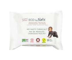 Eco vlhčené ubrousky bez vůně pro citlivou pokožku 20 ks Naty Nature Babycare