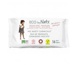 Eco vlhčené ubrousky bez vůně pro citlivou pokožku 56 ks Naty Nature Babycare