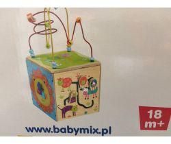 Edukační dřevěná kostka BabyMix 18m+