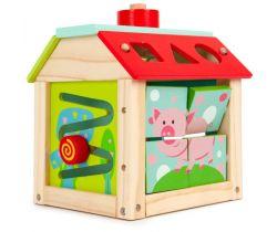 Edukační dřevěná kostka EcoToys Farma
