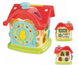 Edukační hračka BabyMix Domeček s hodinami