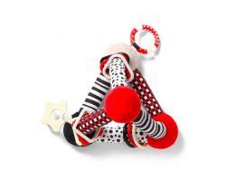 Edukační hračka BabyOno Tiny Yoga Triangle Red
