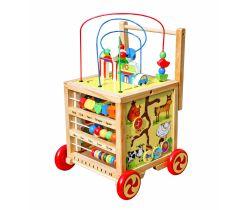 Edukační interaktivní chodítko Wooden Toys W11
