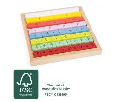 Edukativní barevná tabulka Small Foot Zlomky