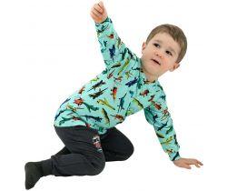 Dětské tričko dlouhý rukáv Letadla vel. 122 - 122 / zelená ESITO