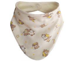 Slintáček bavlna potisk - medvídek smetanová / universal  ESITO