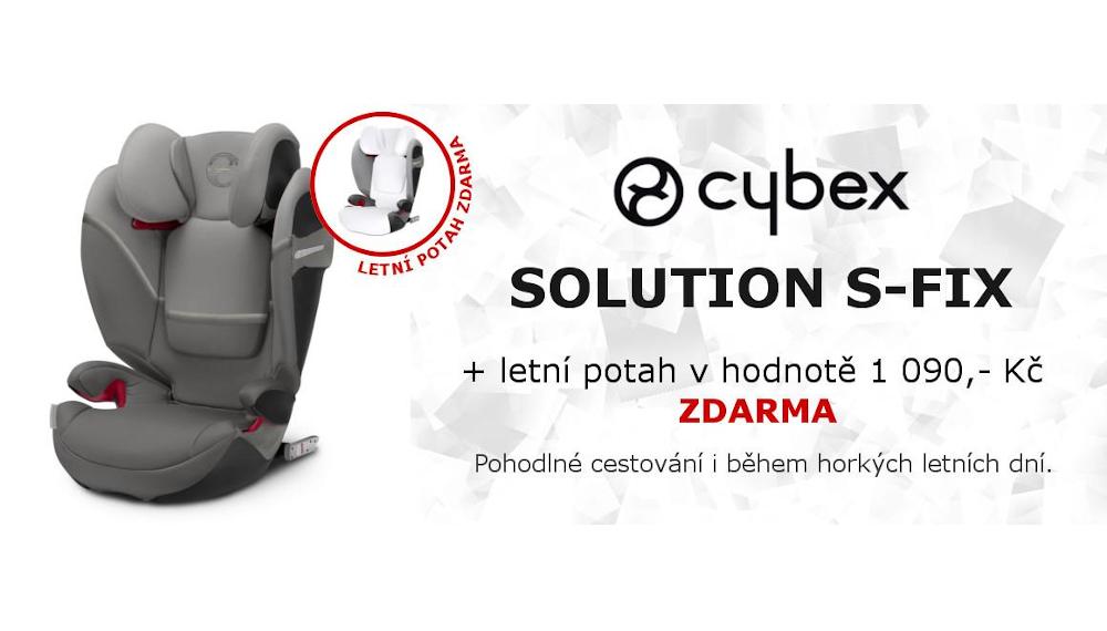 Cybex Solution S-Fix + Zdrama dárek letní potah v hodnote 1 090 Kč