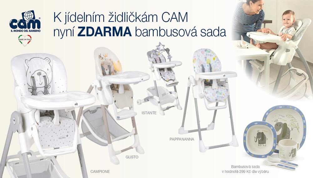 Jídelní židličky CAM + bambusová sada nadobi ZOPA