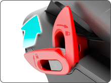 Napínače bezpečnostních pásu pro lepší stabilizaci autosedačky Avionaut Glider