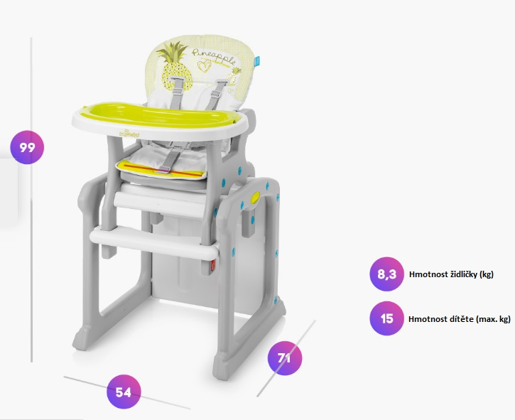 Parametry židličky
