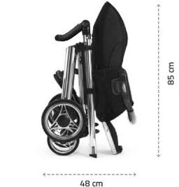 Složený podvozek se sportovní sedačkou
