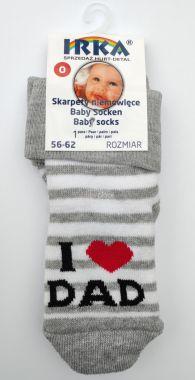 Froté ponožky pruhované velikost 0 Pinokio Deluxe I Love Dad