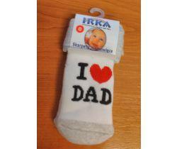 Froté ponožky velikost 0 Pinokio Deluxe I Love Dad