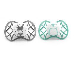 Fyziologické dudlíky Nuvita Explorer 0m+ 2ks