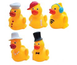 Gumové kachničky s kloboučkem 3 ks Hencztoys